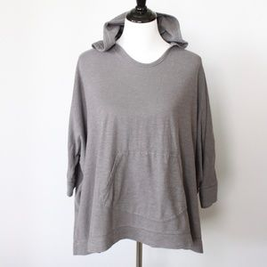 Eileen Fisher Gray Casual Hoodie Shirt Size S